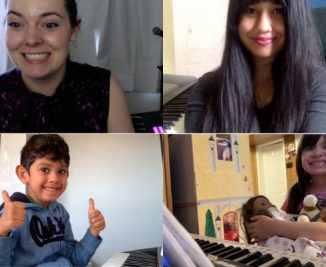 toronto piano lesson students in online lessons with their toronto piano teachers 600